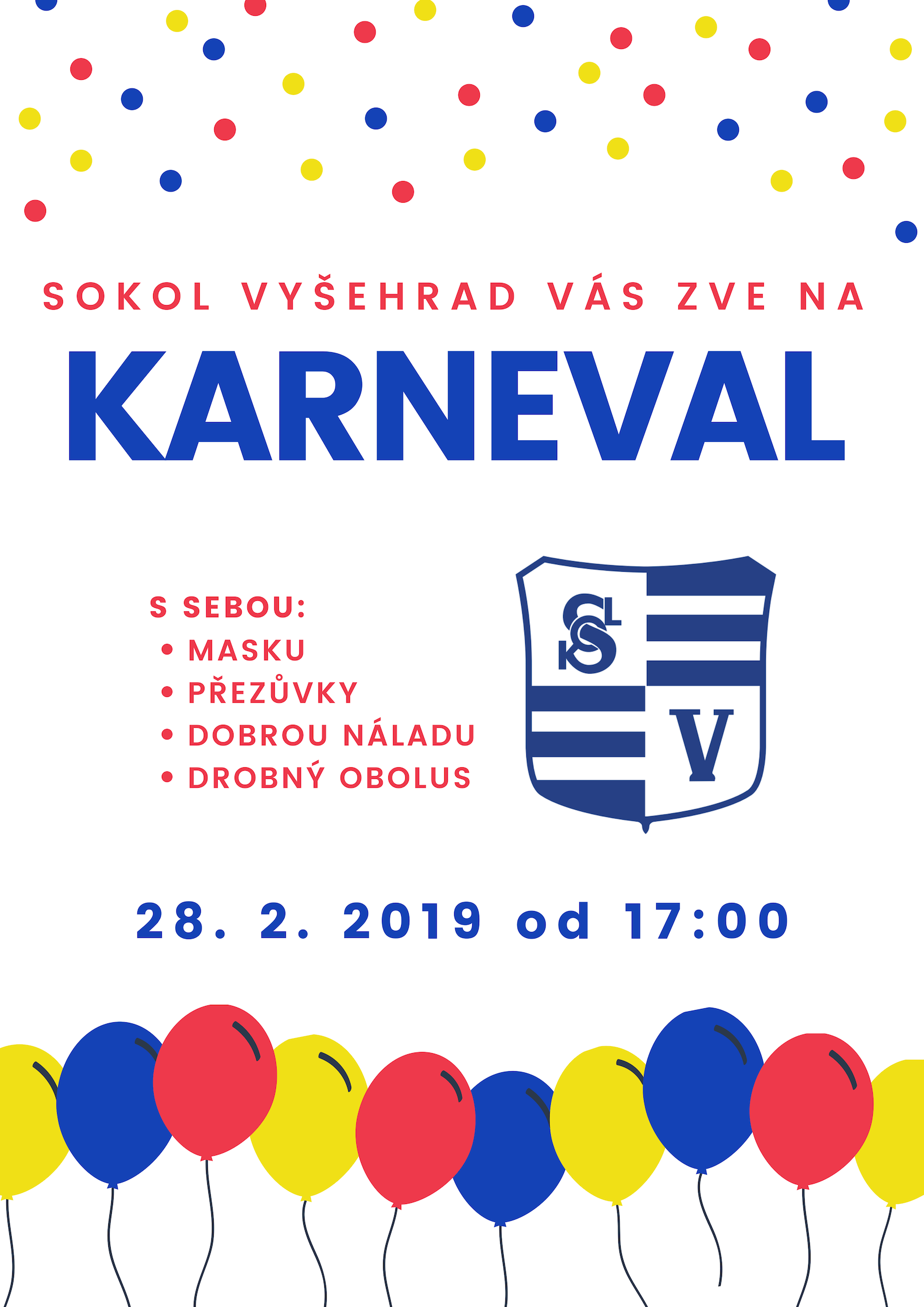 e39d7779e Sokol plakát karneval vizuály I - TeamGym Sokol Vyšehrad